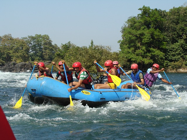 Rafting on the Kali river