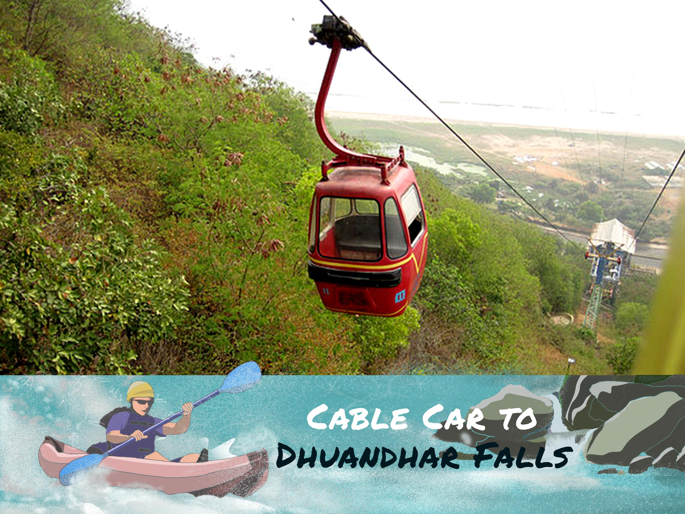 Cable car dhuandar falls