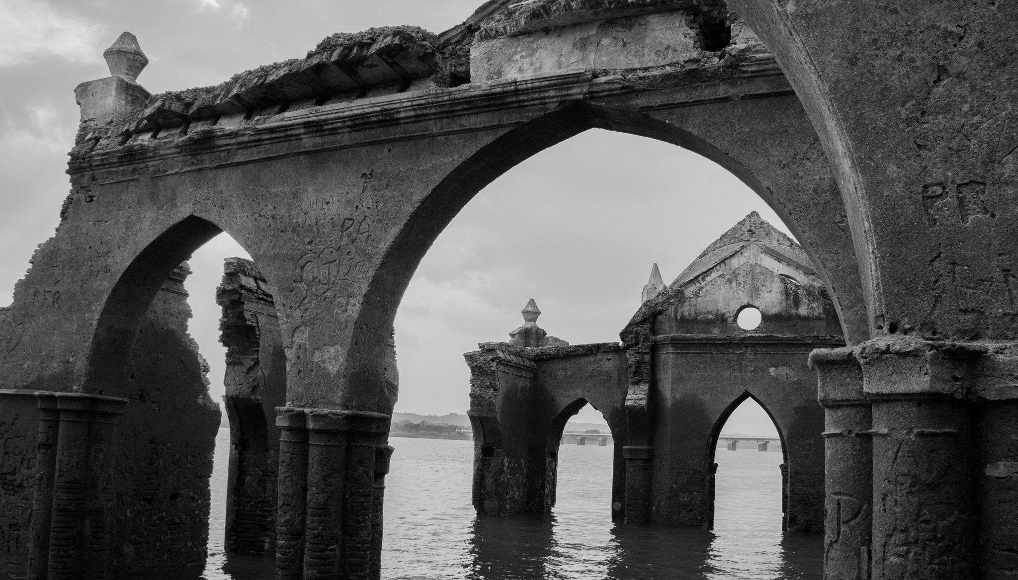 The Ruined Remains of a Floating Church in India