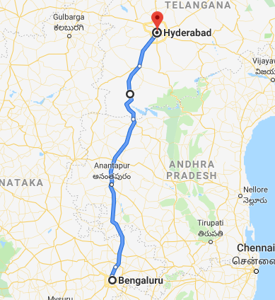 bangalore-hyderabad-map