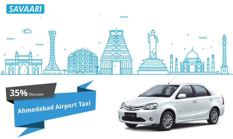 savaari-offers-ahmedabad-airport-taxi