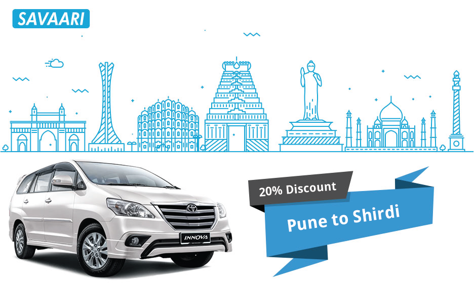 Savaari Offers - Travel from Pune to Shirdi