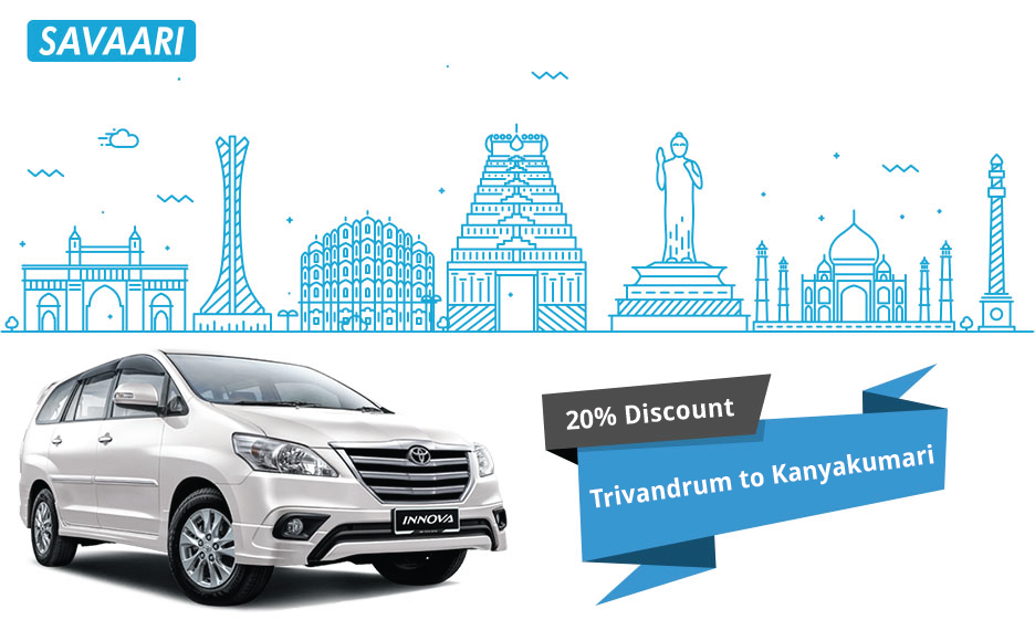 Savaari Offers - Travel from Trivandrum to Kanyakumari