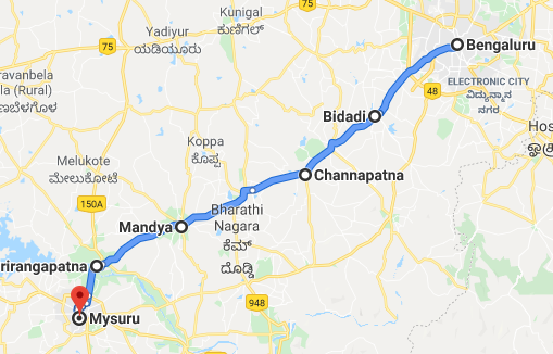 bangalore-mysore-distance-map01