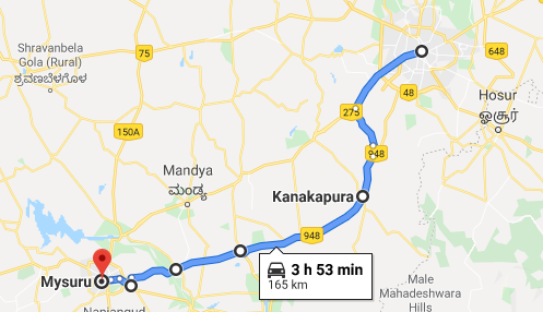 bangalore-mysore-distance-map02