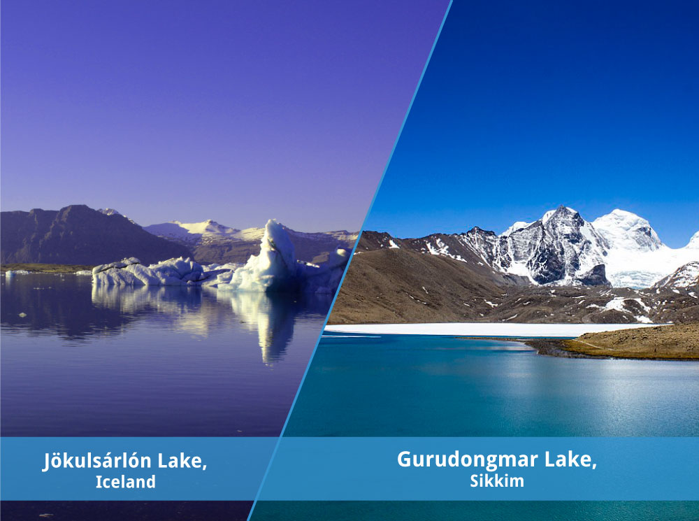 Sikkim and Iceland